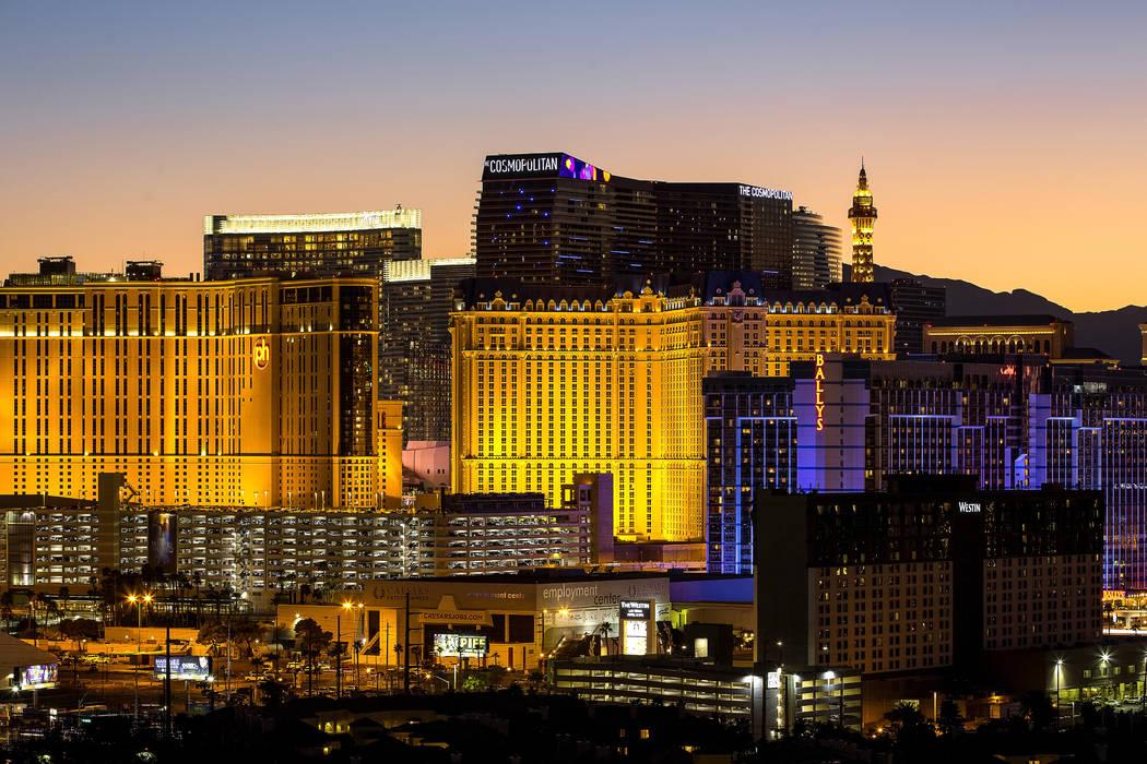 The Las Vegas Strip. (Richard Brian/Las Vegas Review-Journal) @vegasphotograph