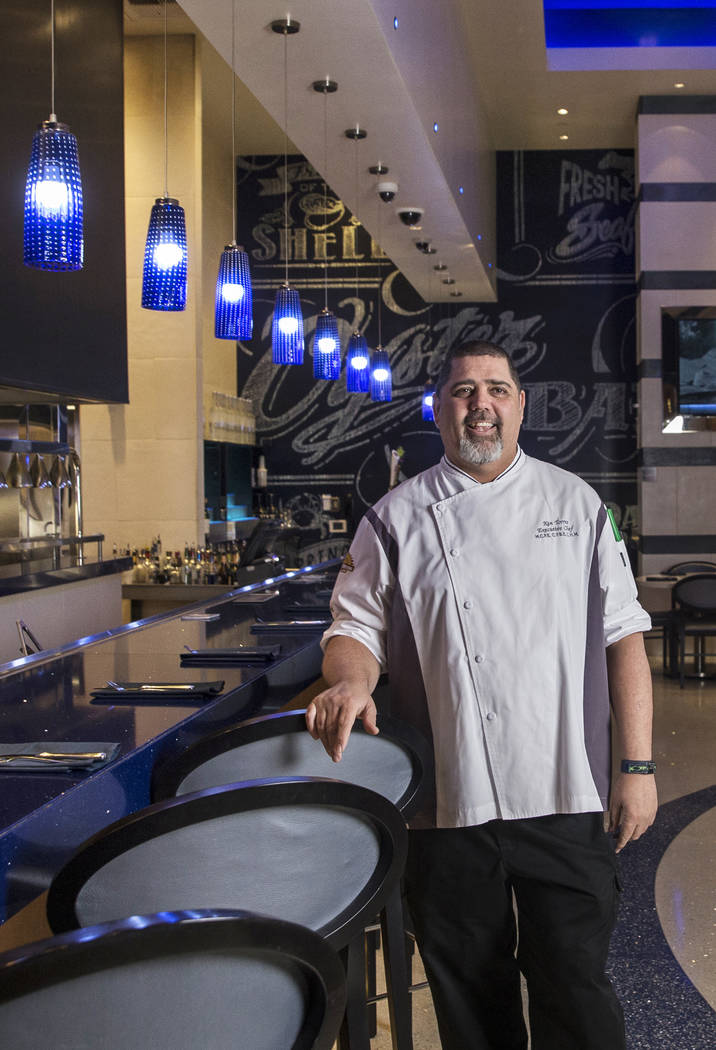 Executive chef Ken Torres at Oyster Bar on Tuesday, March 6, 2018, at Santa Fe Station hotel-casino, in Las Vegas. Benjamin Hager Las Vegas Review-Journal @benjaminhphoto