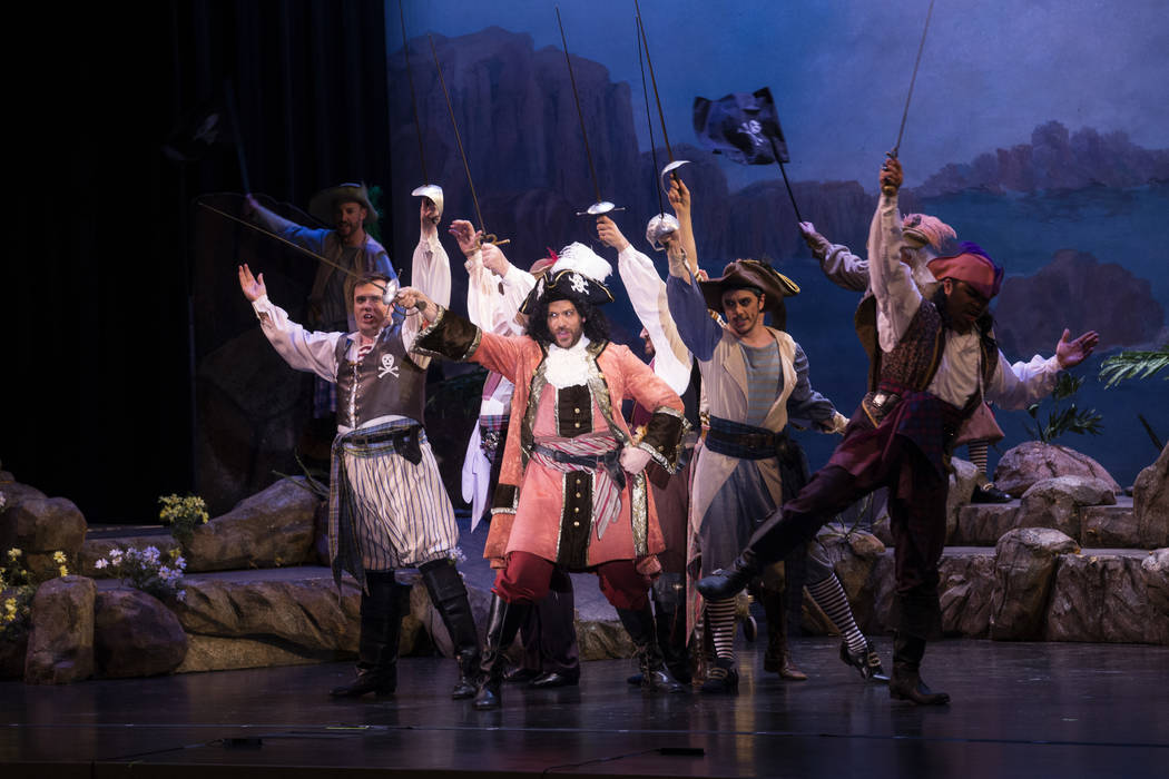 "The Pirate King (David Wannen) proclaims his buccaneer status in the New York Gilbert & Sullivan Players' ""The Pirates of Penzance,"" coming to UNLV March 9."