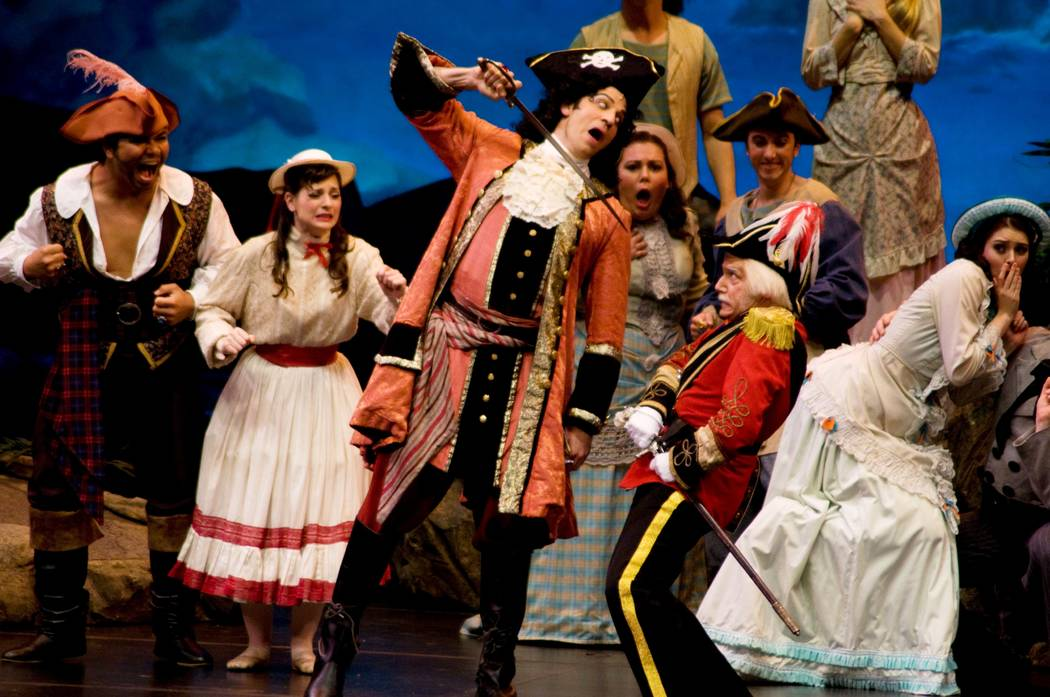 "The New York Gilbert and Sullivan Players bring ""The Pirates of Penzance"" to UNLV's Artemus Ham Hall."
