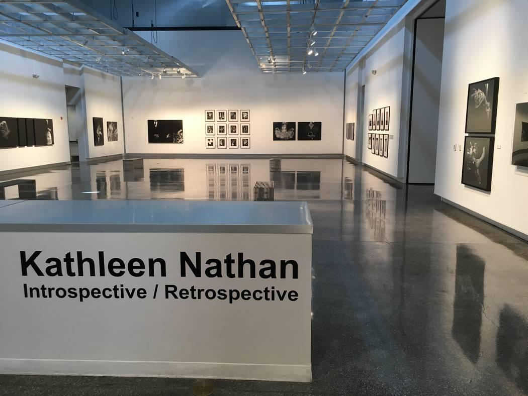 """Introspective/Retrospective,"" a photographic exhibit by Kathleen Nathan, run through April 21 at Sahara West Library. (John Przybys/Las Vegas Review-Journal)"