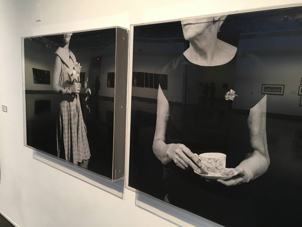 """A piece from""""Introspective/Retrospective,"""" a photographic exhibit by Kathleen Nathan that runs through April 21 at Sahara West Library. (John Przybys/Las Vegas Review-Journal)"""