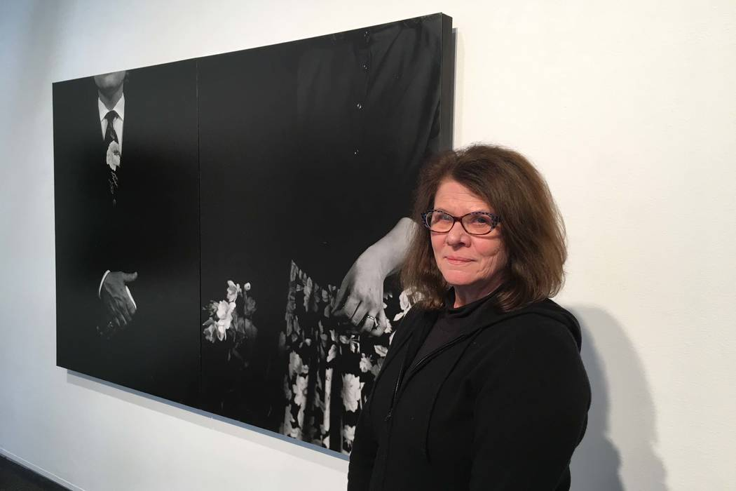 "Kathleen Nathan's photographic exhibit, ""Introspective/Retrospective,"" runs through April 21 at Sahara West Library. (John Przybys/Las Vegas Review-Journal)"