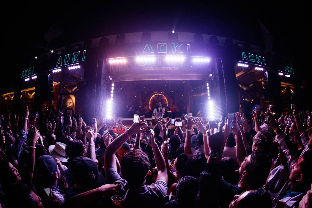 Steve Aoki performs Feb. 24 during the grand opening of Omnia dayclub in Los Cabos. (Courtesy)