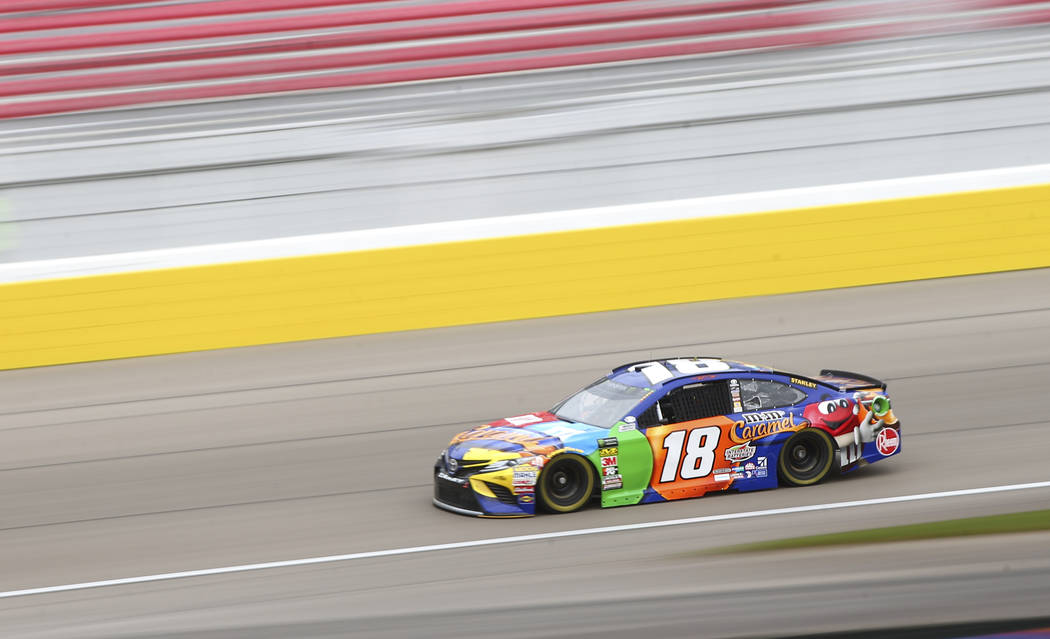 Monster Energy NASCAR Cup Series driver Kyle Busch (18) during final practice at the Las Vegas Motor Speedway in Las Vegas on Saturday, March 3, 2018. Chase Stevens Las Vegas Review-Journal @csste ...