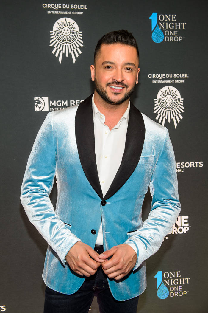 "Jai Rodriguez is shown on the blue carpet at ""One Night For One Drop"" on Friday, March 2, 2018. (Brenton Ho)"