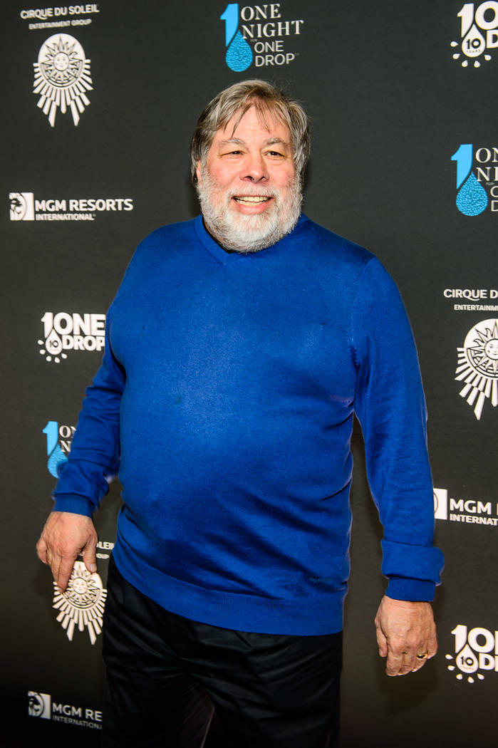 "Steve Wozniak is shown at ""One Night For One Drop"" on Friday, March 2, 2018. (Brenton Ho)"