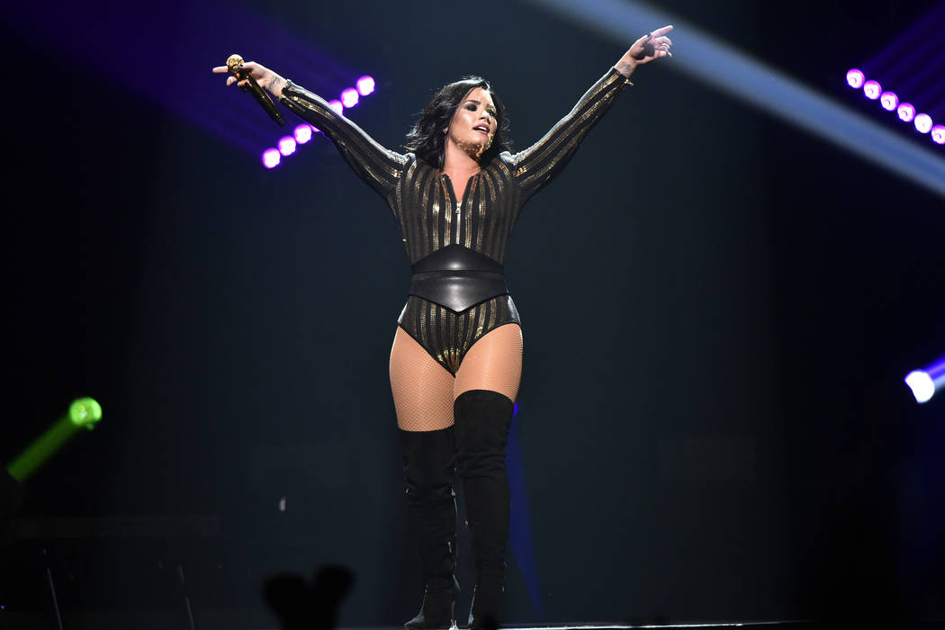 Demi Lovato performs on the Future Now tour at the Allstate Arena on Tuesday, Aug 2, 2016, in Rosemont, Ill. (Photo by Rob Grabowski/Invision/AP)