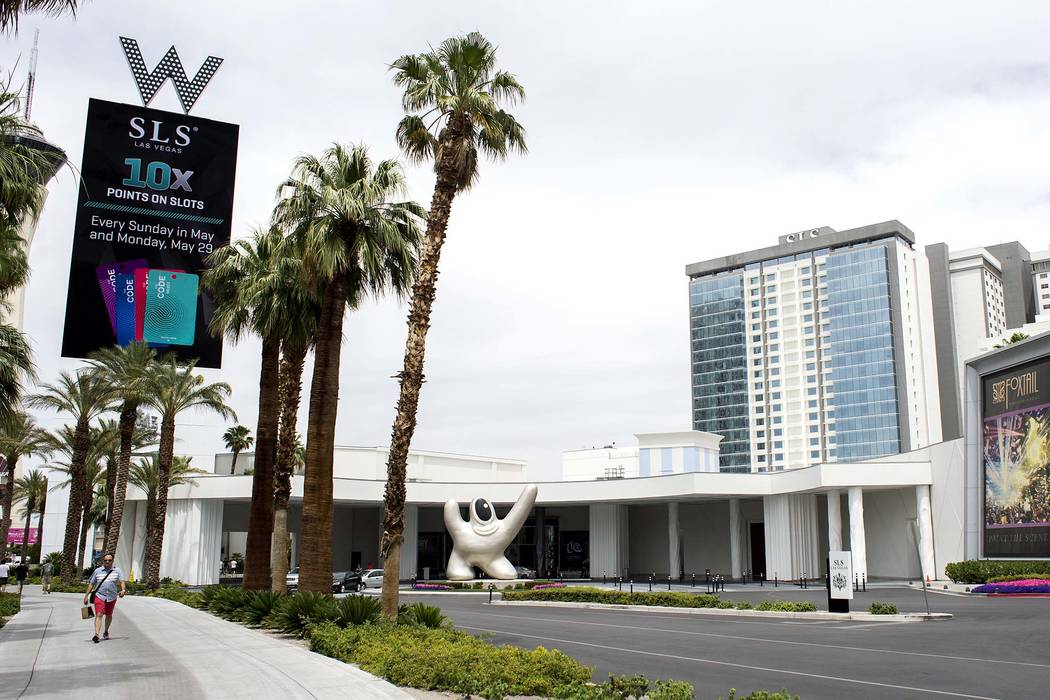 SLS Las Vegas, located near the intersection of West Sahara Avenue and South Las Vegas Boulevard, is pictured on Wednesday, May 31, 2017 in Las Vegas. (Bridget Bennett/Las Vegas Review-Journal) @b ...