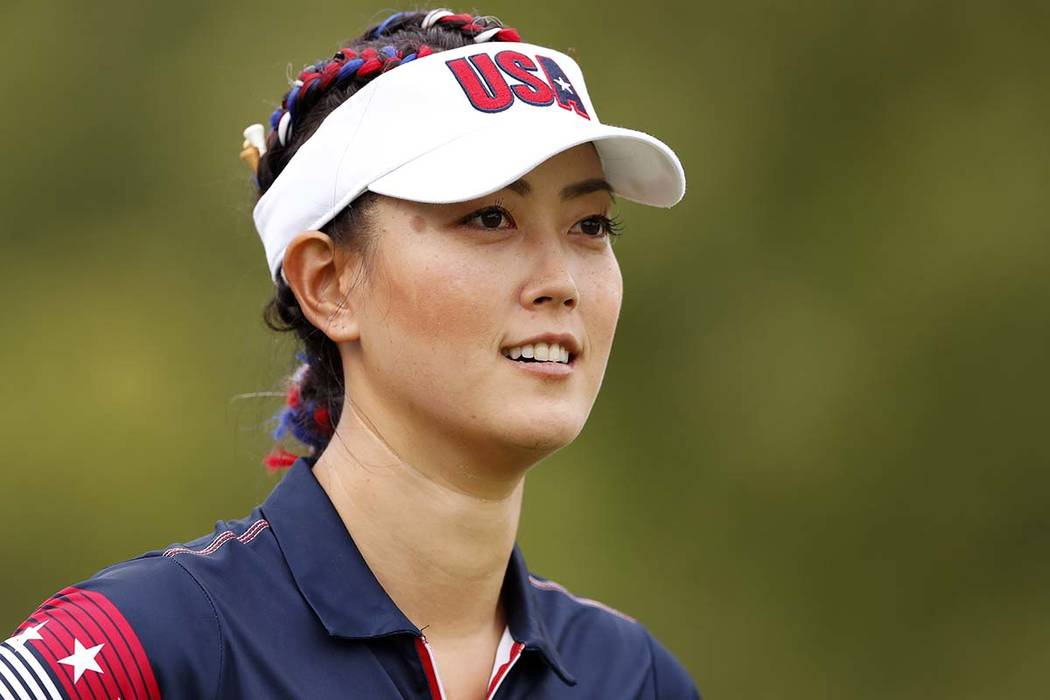 Michelle Wie sunk a lengthy putt from off the green on the final hole to win the LPGA's Women's World Championship by one stroke on Sunday, March 4, 2018. Wie is shown here in a file photo from Au ...