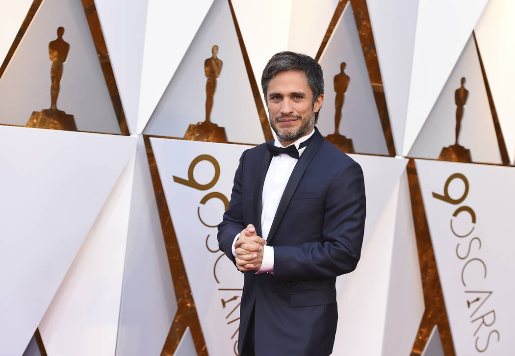 Gael Garcia Bernal arrives at the Oscars on Sunday, March 4, 2018, at the Dolby Theatre in Los Angeles. (Photo by Jordan Strauss/Invision/AP)
