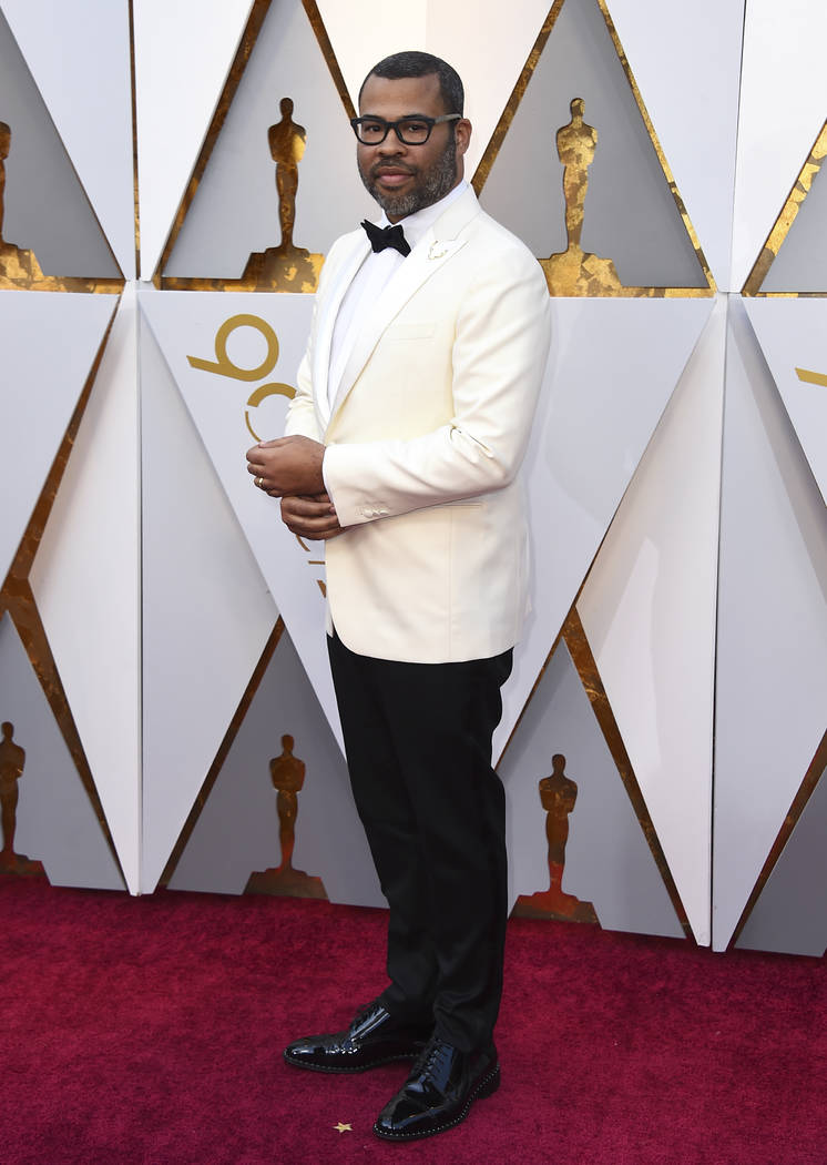 Jordan Peele arrives at the Oscars on Sunday, March 4, 2018, at the Dolby Theatre in Los Angeles. (Photo by Jordan Strauss/Invision/AP)