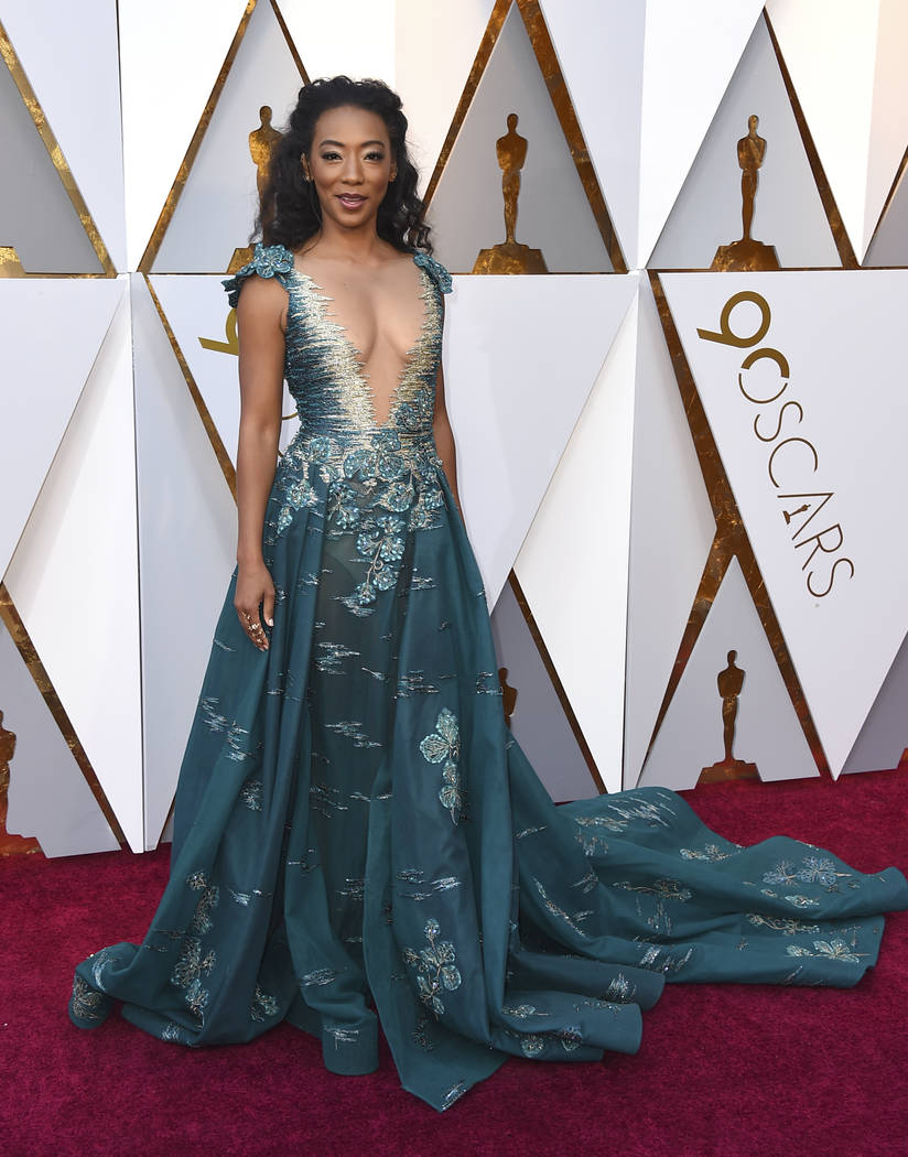 Betty Gabriel arrives at the Oscars on Sunday, March 4, 2018, at the Dolby Theatre in Los Angeles. (Photo by Jordan Strauss/Invision/AP)