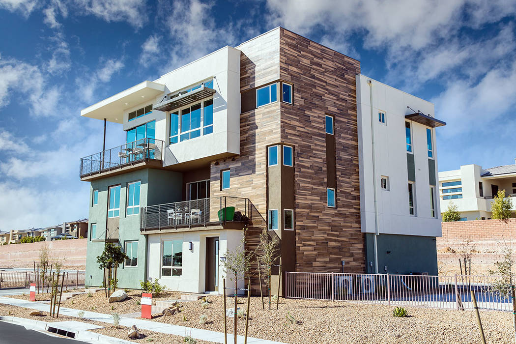 Models for Trilogy by Shea Homes are open. The Summerlin age-qualified community features three distinct collections of attached homes. (Shea Homes Trilogy)