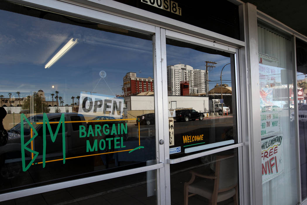 The Bargain Motel at 200 S. 8th St. in downtown Las Vegas on Tuesday, March 6, 2018. (K.M. Cannon/Las Vegas Review-Journal) @KMCannonPhoto