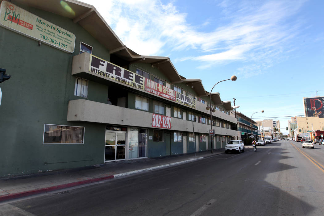 The Bargain Motel at 200 S. 8th St. in downtown Las Vegas on Tuesday, March 6, 2018. K.M. Cannon Las Vegas Review-Journal @KMCannonPhoto