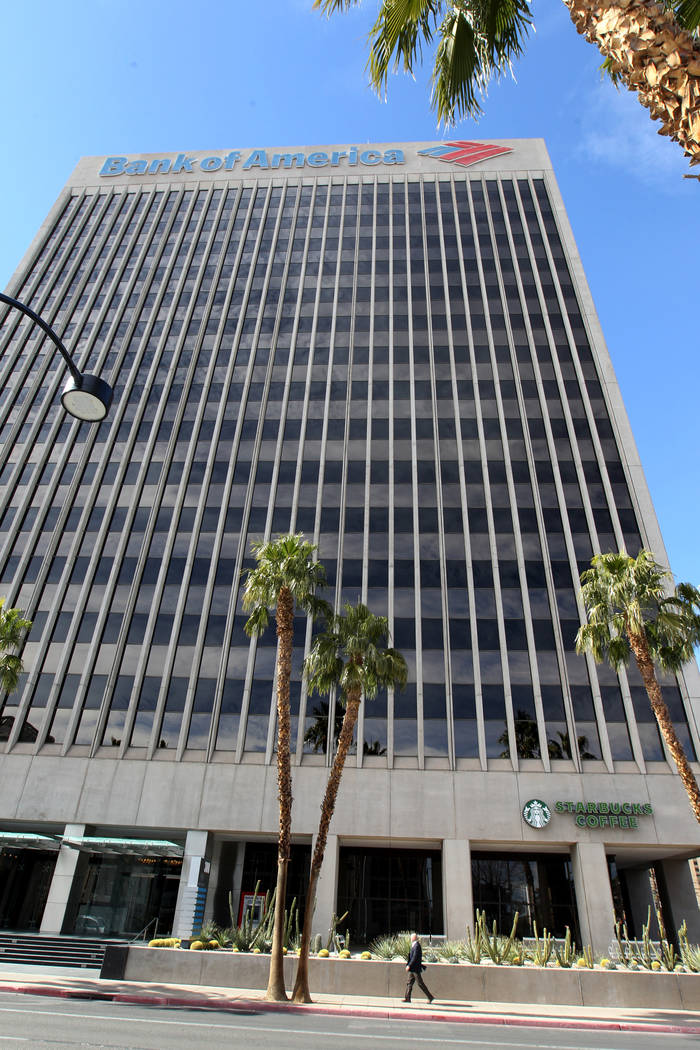 The Bank of America office building at 300 S 4th St. in downtown Las Vegas on Tuesday, March 6, 2018. (K.M. Cannon/Las Vegas Review-Journal) @KMCannonPhoto