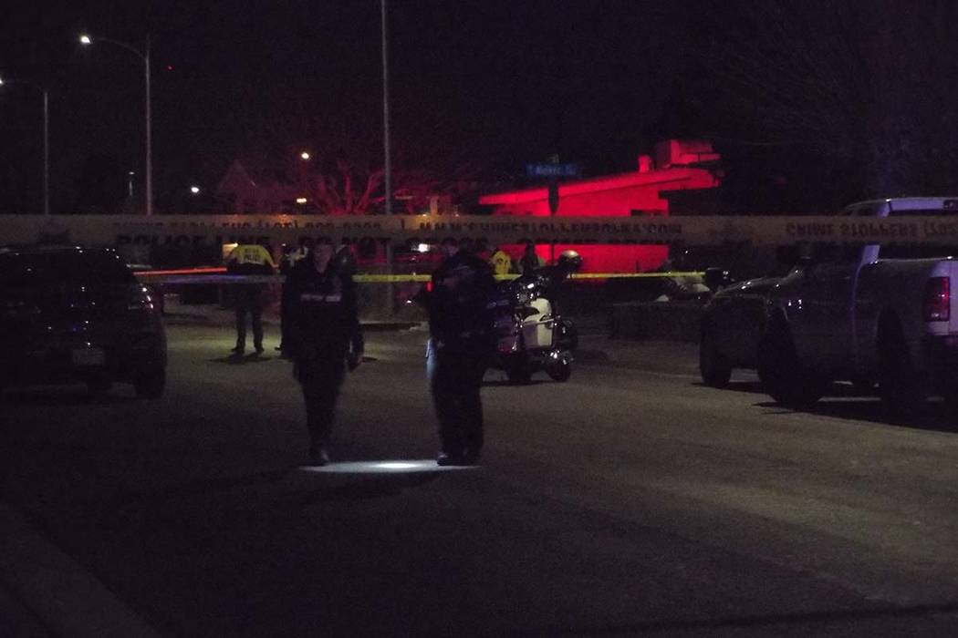 Las Vegas police are investigating a fatal crash that occurred Monday night in central Las Vegas. (Max Michor/Las Vegas Review-Journal)
