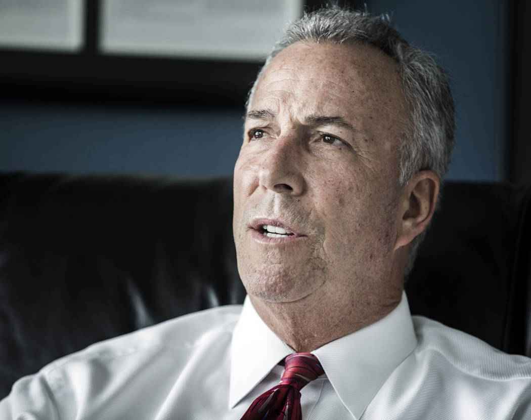 District Attorney Steve Wolfson details the expansion of the gun crimes unit during an interview in his office on Tuesday, May 17, 2016. (Jeff Scheid/Las Vegas Review-Journal) @jlscheid