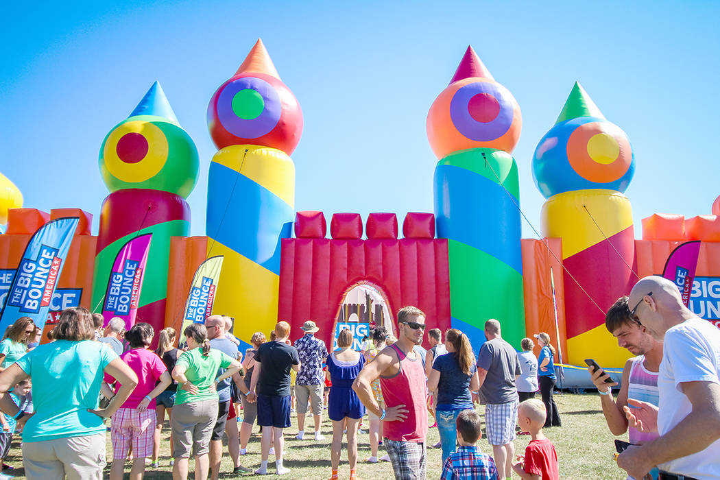 "Big Bounce America is bringing what they call the ""world's largest bounce house ever"" to Craig Ranch Regional Park in North Las Vegas April 13-15."
