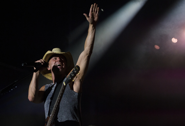 """Kenny Chesney performs during the last day of the American Country Music's """"Party for a Cause,"""" event at the Las Vegas Festival Grounds on Sunday, April 3, 2016 in Las Vegas. Benjamin Hager/Las Ve ..."""
