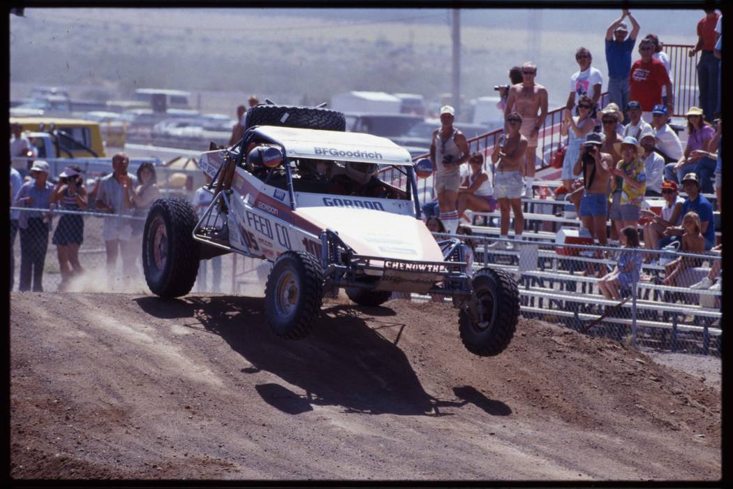 The 20th annual Nissan Mint 400 desert race with a 106-mile course, Sloan, Nevada, 1987. (Las Vegas Review-Journal)