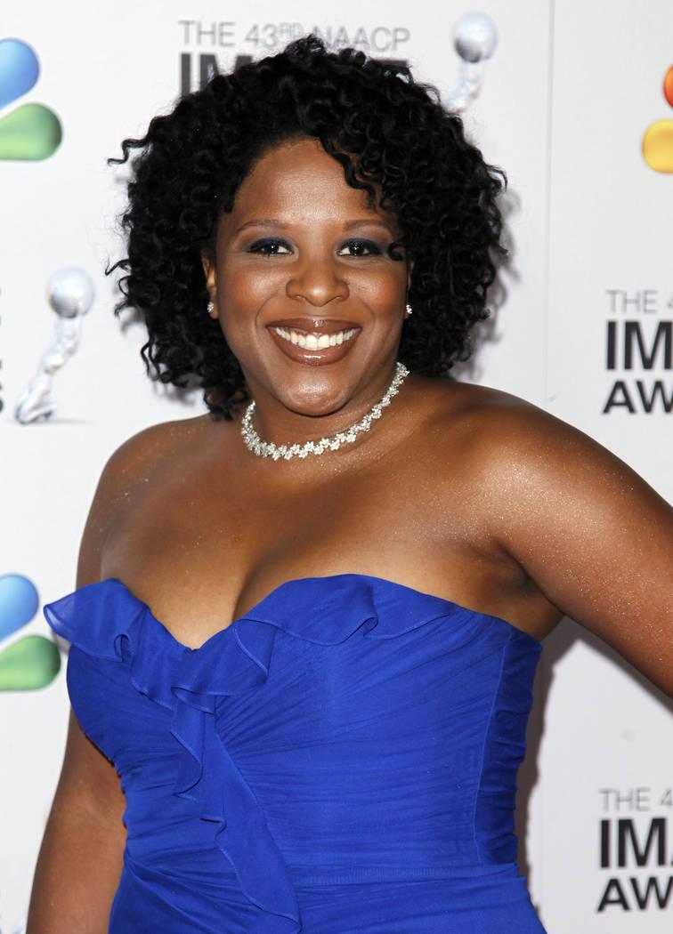 Tayari Jones arrives at the 43rd NAACP Image Awards on Friday, Feb. 17, 2012, in Los Angeles. (AP Photo/Matt Sayles)