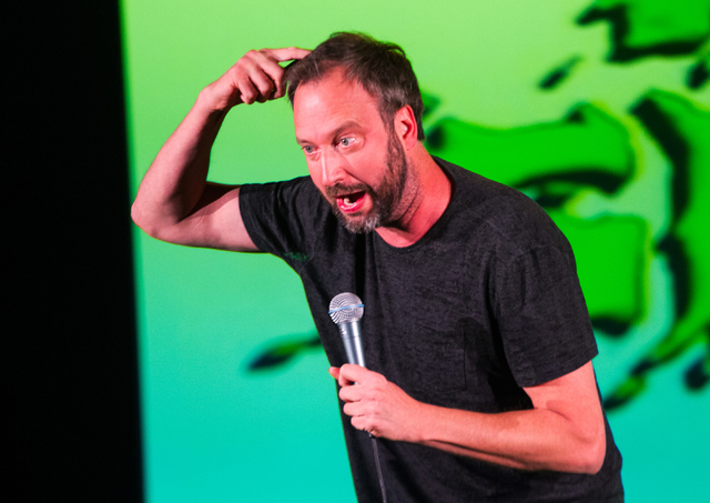 Tom Green takes on the absurdities of modern life in his show at the Hard Rock Hotel. (Chase Stevens/Las Vegas Review-Journal)