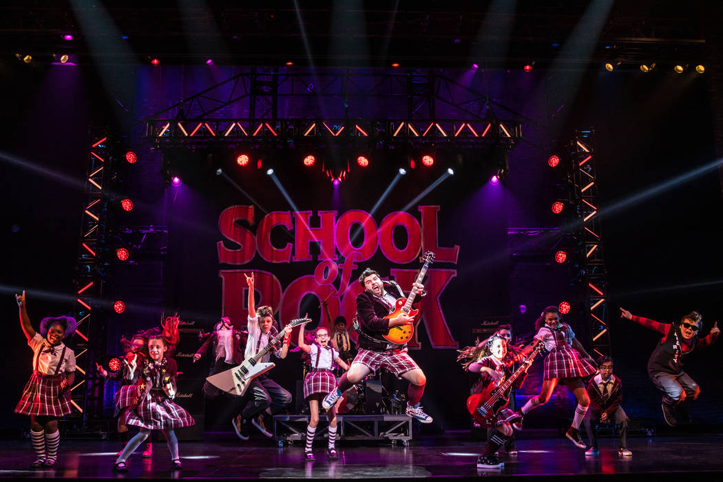 """School of Rock,"" part of The Smith Center's 2018-19 Broadway Las Vegas season."