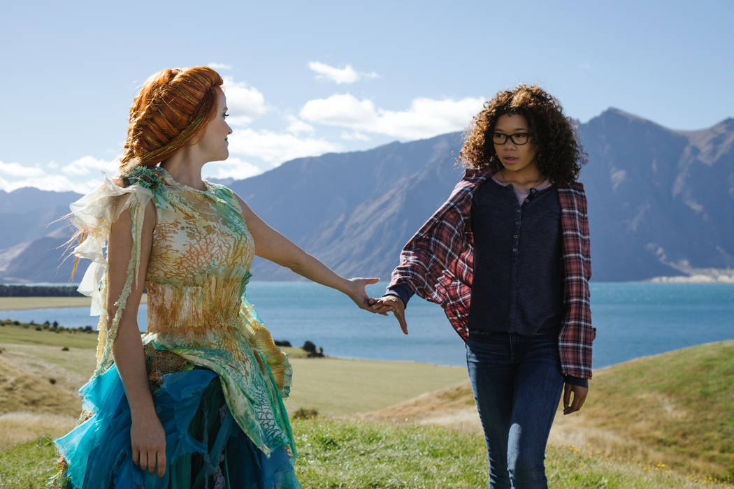 "Reese Witherspoon is Mrs. Whatsit and Storm Reid is Meg Murry in Disney's ""A Wrinkle in Time."""