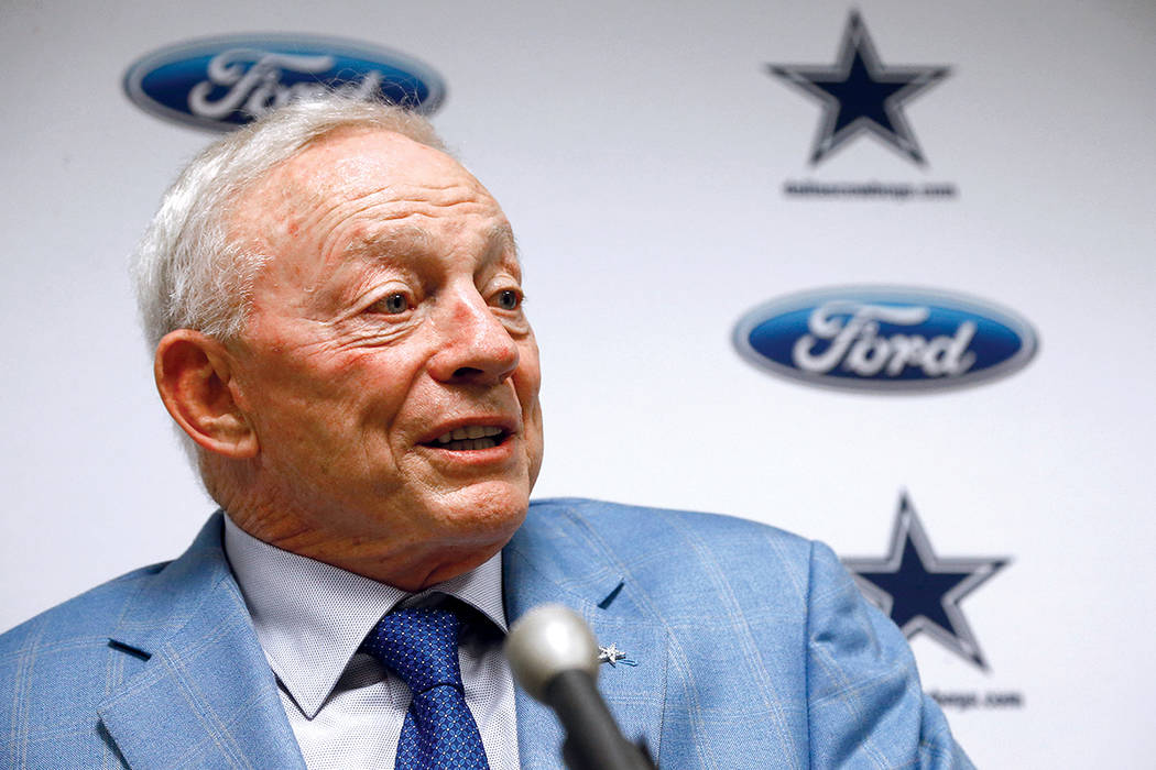 Jerry Jones, owner of the Dallas Cowboys. (AP Photo/Ross D. Franklin)