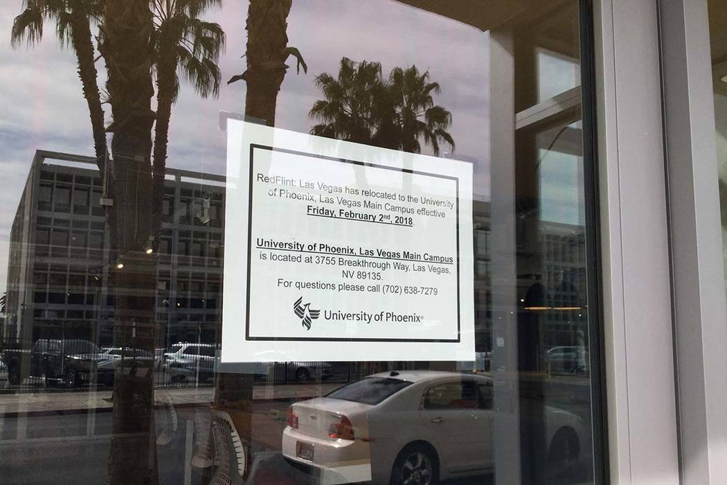 The RedFlint experience center in downtown Las Vegas was closed Feb. 2, 2018. The building, shown Thursday, March 8, 2018, is still somewhat furnished. Nicole Raz Las Vegas Review-Journal.