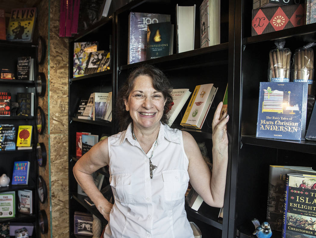"Las Vegas writer H.G. McKinniss released her first novel, ""A Justified Bitch"" during a signing party and reading at the Writer's Block on Tuesday, Aug 8, 2017, in Las Vegas. Benjamin Hag ..."