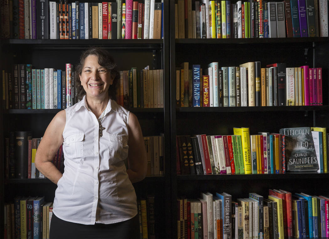 "Las Vegas writer H.G. McKinnis, athor of ""A Justified Bitch"" during a signing party and reading at the Writer's Block on Tuesday, Aug 8, 2017, in Las Vegas. Benjamin Hager Las Vegas Review-Journal ..."