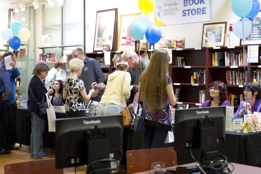 Readers and authors meet at last year's Local Author's Showcase. (Photo courtesy Henderson Libraries)