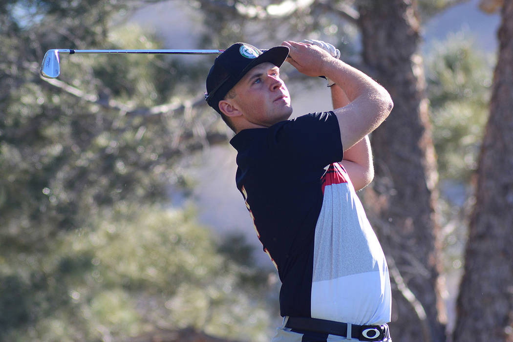 UNLV junior Harry Hall was the runner-up at the Southern Highlands Collegiate, the Rebels home tournament. (Courtesy/UNLV Athletics/Steve Spatafore)