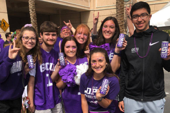 Grand Canyon University fans in Las Vegas for the Western Athletic Conference tournament at the Orleans Arena. (@GCUHavocs/Twitter)