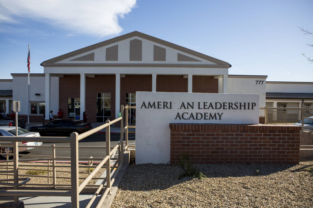 American Leadership Academy on Ann Road in North Las Vegas on Thursday, March 8, 2018.  Patrick Connolly Las Vegas Review-Journal @PConnPie