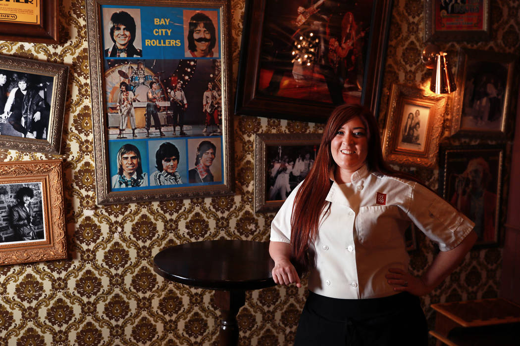 Shae Wafford, 28, sous chef, poses for a portrait at Ri Ra Irish Pub in Las Vegas on Friday, March 9, 2018. Andrea Cornejo Las Vegas Review-Journal @DreaCornejo