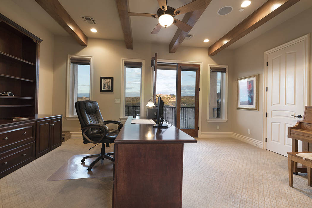 The office is upstairs. (Synergy/Sotheby's International Realty)