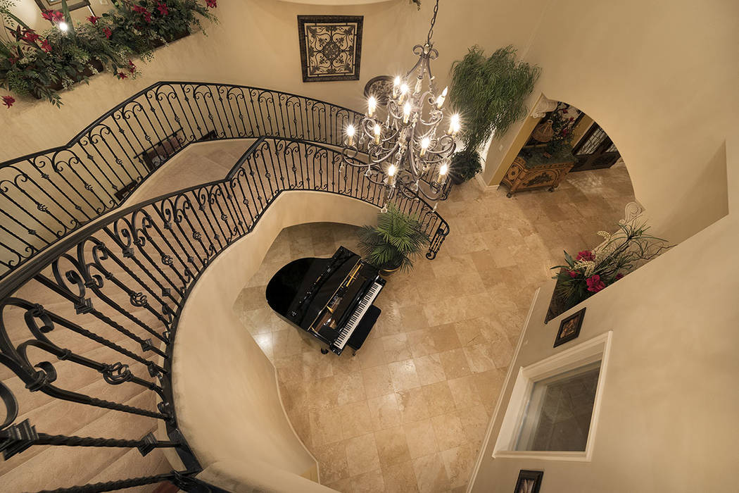 The staircase. (Synergy/Sotheby's International Realty)