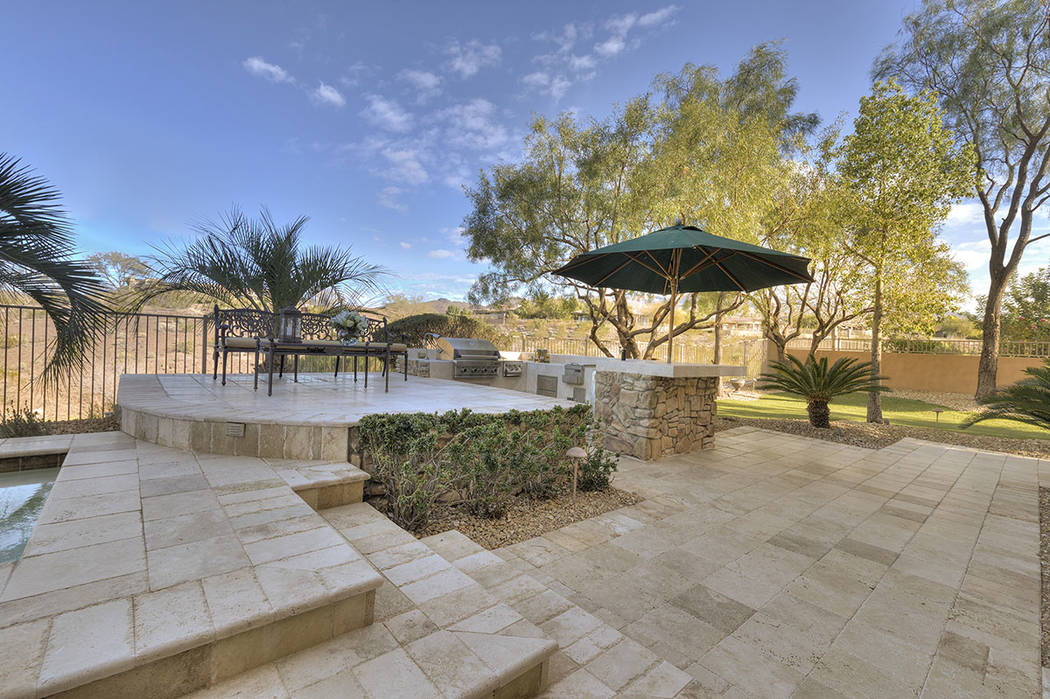 The outdoor kitchen. (Synergy/Sotheby's International Realty)