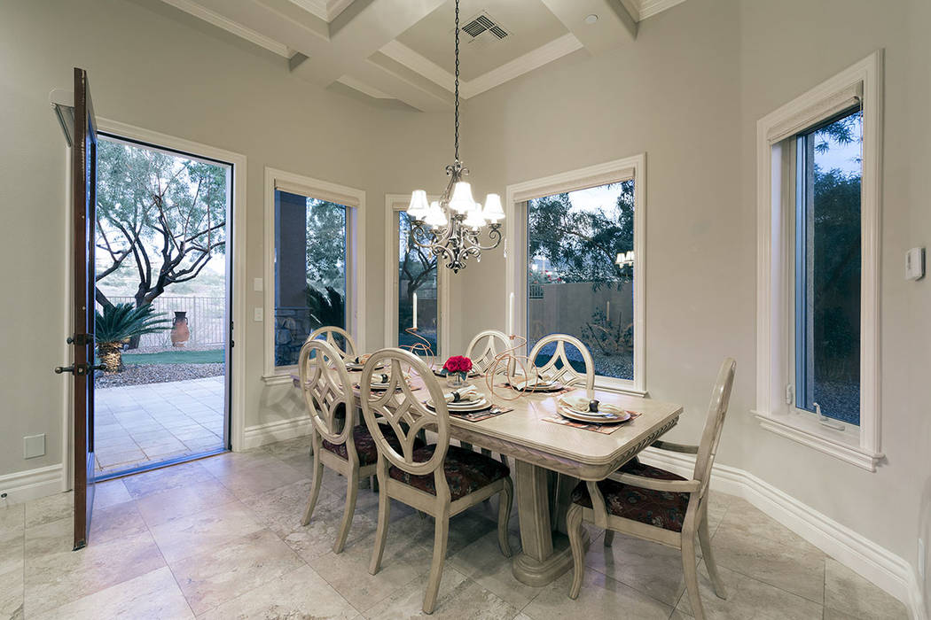 A bright and cheery breakfast nook opens to the backyard. (Synergy/Sotheby's International Realty)