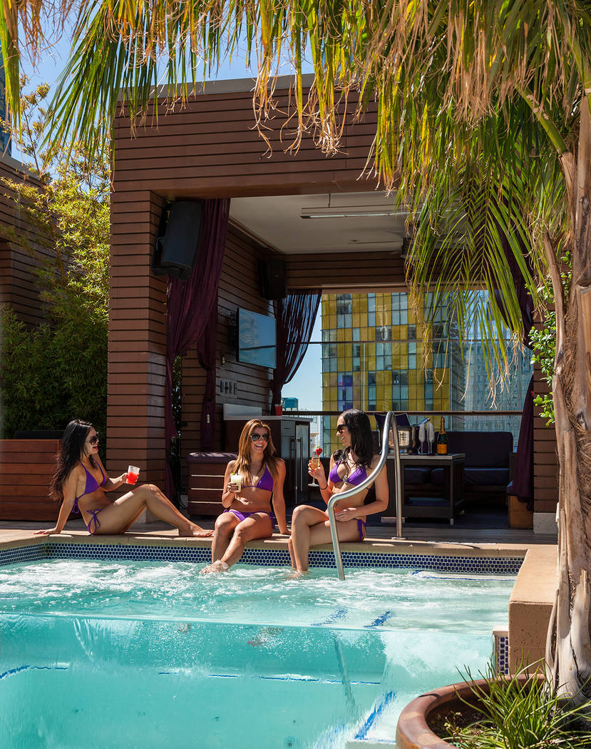 Grand cabana with private Jacuzzi at Marquee Day Club (Marquee)