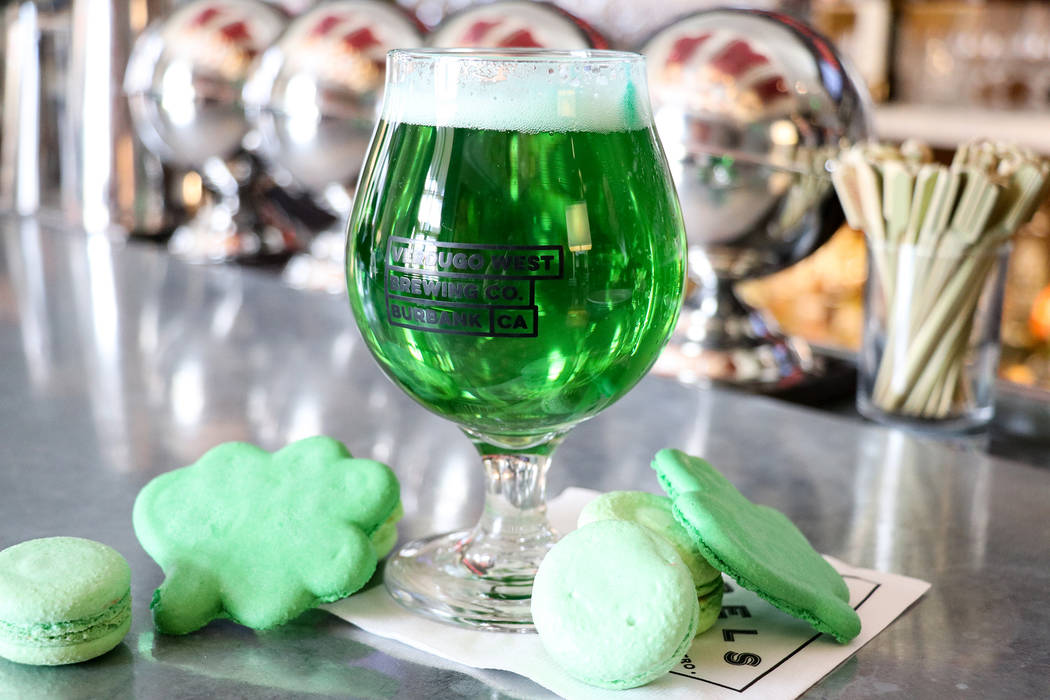 Palazzo is offering green Gigil lager from Verdugo West Brewing Co. and green shamrock-shaped macarons layered around mint ice cream to go with it. Morels Steakhouse & Bistro