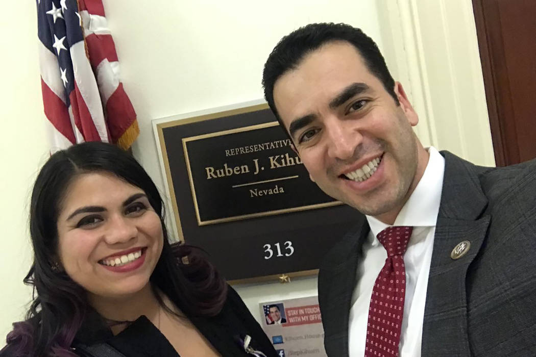Rep. Ruben Kihuen, D-Nev., invited Astrid Silva, of Las Vegas, an undocumented immigrant who came to the U.S. from Mexico at age 4 to be his guest at Tuesday's State of the Union address. (@RepKih ...