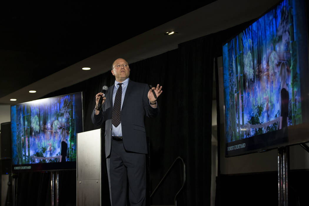 Gary Granat, CEO for Immersive Artistry, during a press conference for the future Kind Heaven entertainment venue, at the The Linq hotel-casino in Las Vegas, Tuesday, March 13, 2018. Erik Verduzco ...