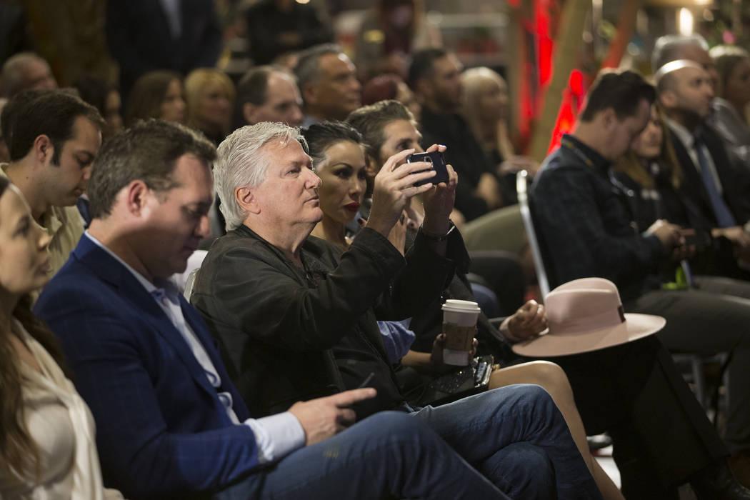 People attend a press conference for the future Kind Heaven entertainment venue, at the The Linq hotel-casino in Las Vegas, Tuesday, March 13, 2018. Erik Verduzco Las Vegas Review-Journal @Erik_Ve ...