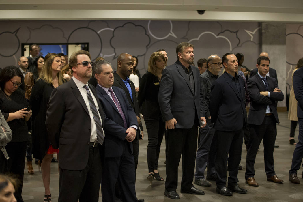 People attend a press conference for the future Kind Heaven entertainment venue, at the The Linq hotel-casino in Las Vegas, Tuesday, March 13, 2018. Erik Verduzco Las Vegas Review-Journal @Erik_Ve ...