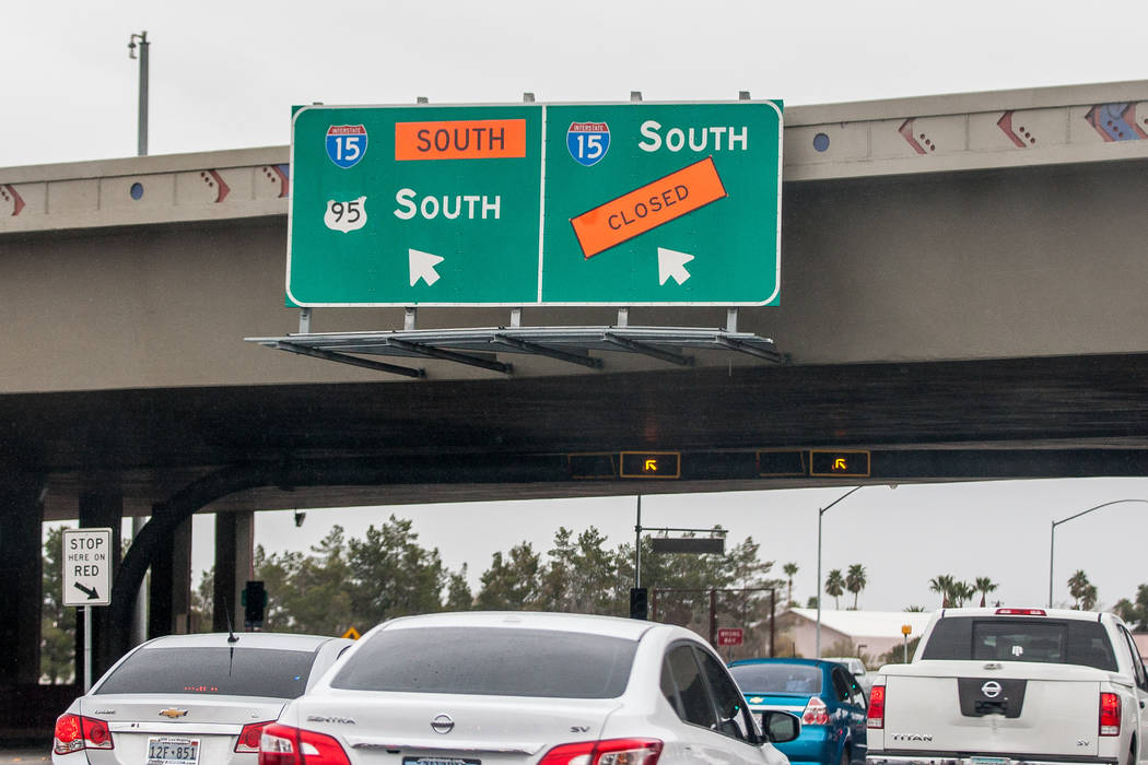 The on-ramp to U.S. Highway 95 on Rancho Drive is closed on Rancho Drive due to construction in Las Vegas on Saturday, March 10, 2018.  Patrick Connolly Las Vegas Review-Journal @PConnPie
